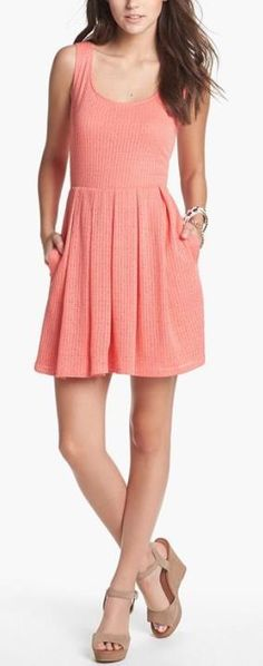 Great color! Mimi Chica Fit & Flare Dress