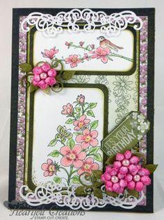 Heartfelt Creations   Pink Birthday Blooms