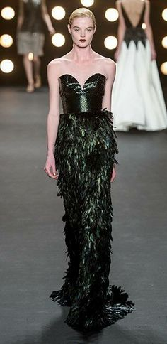 Amazing feathered gown