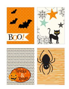"""FREE printable Halloween Project Life Cards (just click """"ici"""" next to télécharger)"""