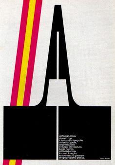 magazine ad by Franco Grignani (1969)