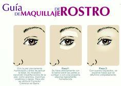 Guia de maquillaje segun tipo de rostro  by:http://www.joliedevogue.com/page.aspx?page_id=378