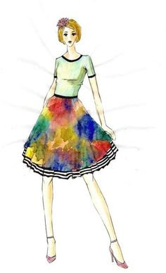 Colours Explosion  by VR Style www.maisonacademia.com | Fashion Sketches Maison Academia