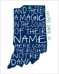 Notre Dame Fighting Irish Print.