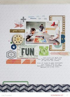 favorit idea, scrapbook layouts, scrapbook inspir, scrappi, scrapbook idea, lisa truesdel, fun, 85x11 layout, handmad idea