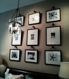 Creative way to hang photos ..