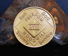 Narcotics Anonymous 18 Year Bronze Medallion 2008 Series Coin Chip Token | eBay