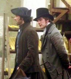Jack Farthing as George Warleggan (with Aiden Turner as Ross Poldark).