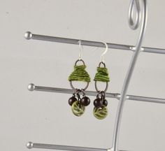 Earrings with WoolyWire