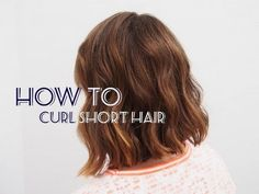 How To: Messy Curls for Short Hair | essiebutton. I kinda want to cut my hair now... :)