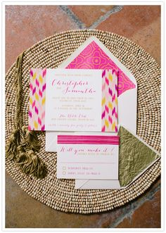 Moroccan-inspired invitation suite #love #obsessed