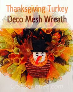 The Deco Mesh Turkey - how to! CraftsnCoffee.com