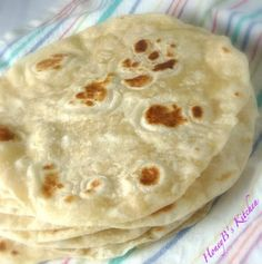EASY HOMEMADE FLOUR TORTILLAS 3 cups flour 1 tsp. salt 1/3 cup vegetable oil 1 cup warm water Combine all the flour salt vegetable oil and water until it forms a dough. Roll the dough into a big ball and take about an 1 to 2 inch pieces off. Pat the dough flat with your hands or take a rolling pin and roll into circles. Put the dough on a flat pan on the stove and let the sides cookuntil there are little brown specks on both sides like you would see on other tortillas. Love!