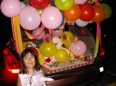 kids will love balloons at trunk or treat