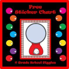Grade School Giggles: Free Sticker Chart