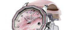 Corum Admiral's Cup Legend 38 Fiancée Un modelo femenino en tres ediciones limitadas con otros tantos tipos de piedras preciosas y dial en madreperla.