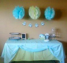 Delight Inspired: Boy Baby Shower Table Decor