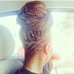 box braids with undercut, undercut with braids, braids undercut, braids with shaved head, braids with shaved back, undercut box braids, shaved with box braids