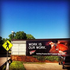 Red Wing Shoes Billboard in Red Wing, Minnesota #redwing #redwings #redwingshoes #boots #amsterdam #shoes #billboard