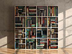 cool maze like bookcase