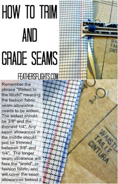 Sewing 101 - How to Grade Seam Allowances