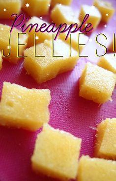 (2 calories per jelly)10 Calorie Pineapple Jellies!