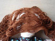 Sewing: how to make dolls hair hair tutorials, doll hair, hair techniqu