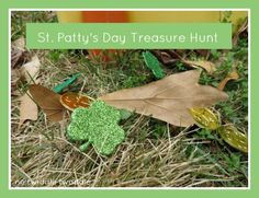 An easy St. Patrick's Day activities for kids: Take your kids on a St. Patty's Day treasure hunt! My kids LOVED this activity!