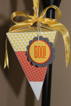 Stampin' Up! Petal Cone Die  by Just Julie B's Stampin' Space: Candy Corn Fun!