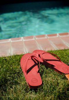 UGG® Australia's leather flip flop for women - the #Kayla   - #musicfestival #style