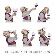 Infografía sobre la Ceremonia de Degustación. Divertida, ¿verdad? #vino