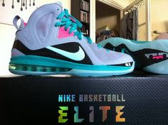 "Nike Lebron ""elite"" ""South Beach/MCfly"" colorway"