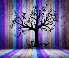 Vinyl Wall Art Decal - Tree Silhouette With Two Birds $155 - click on the photo for a direct link -  http://goreydetails.net/shop/index.php?main_page=product_info=70_78_id=1413