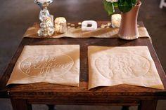 diy ideas, paper placemat, marker, brides, mat craft, diy wedding, bride groom, craft paper, place mats
