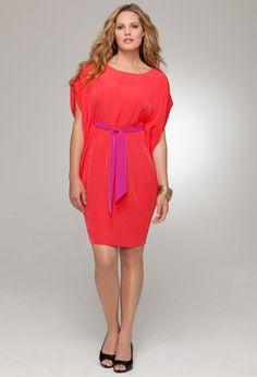 Tie Front Kimono Dress #plus #size #fashion