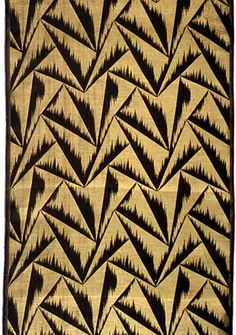 Probably Japanese maker Length with Pattern of Triangles, ca. 1924 Rayon and gold metallic thread; plain weave  Gift of L. J. Cella III 1990.129.72