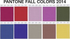 Pantone Fall Colors 2014 -  www.mybrandnewimage.com