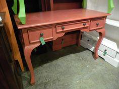 """A080 - $227  48""""W x 23.75""""D x 31.75""""H  #desk #nadeaunashville #paintedfurniture"""