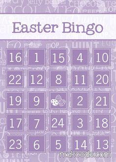 FREE Printable Easter Bingo Cards