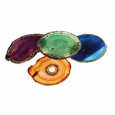 main image of Colored Agate Coasters