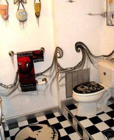 Nightmare Before Christmas Bathroom.  @K. Mitchell .  This fucking rocks!!!