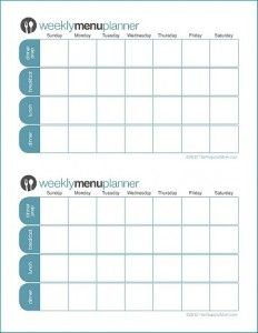FREE Customizable Menu Planners from The Peaceful Mom!