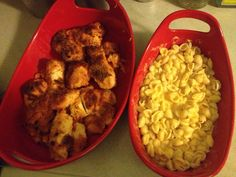 Crispy cheese chicken with Mac n cheese