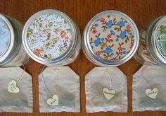 gifts in jars: homemade tea bags