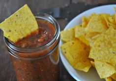 Quick and Easy ORIGINAL Salsa Recipe - Let me introduce you to the easiest salsa you've ever met. It literally comes together in under 5 minutes. Not only is it easy peasy to prepare but it's down right delicious. Unlike pico de gallo, it's more like a salsa you'd get in a Mexican restaurant served with chips before you get dinner.
