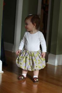 Toddler bubble skirt...easy!