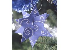 easy star ornament...