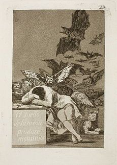 Museo del Prado - Goya - Caprichos - No. 43 - El sueño de la razon produce monstruos