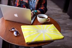 DIY a bright laptop sleeve with this tutorial.