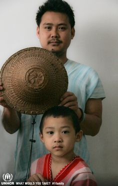Phillip and his family lived in the Burmese jungle for 9 years. He then moved to a Thai refugee camp, where he lived for another 11 years in very poor living conditions. He arrived in Canada in 2006 with his wife, also a refugee, who he had met in a camp. The most important thing he brought with him is a traditional Karen hat which is symbolic of the many hats he has worn; as survivor, a refugee and now as a businessman.   UNHCR/ L. Nechita - Visit 1family http://www.unhcr.org/1family